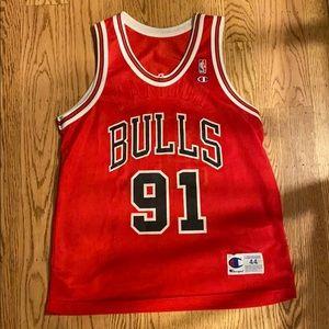 Retro NBA champion brand Bulls Rodman Jersey